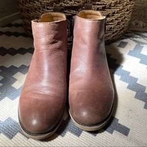 Franco Sarto Brown leather ankle zipper boots